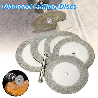 5pcs 50mm Mini Diamond Cutting Disc Saw Blade for Glass Rotary Tool 20000 RPM