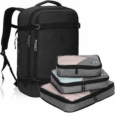 Hynes Eagle 44L Flight Approved Carry on Backpack Travel Luggage w/Packing Cubes