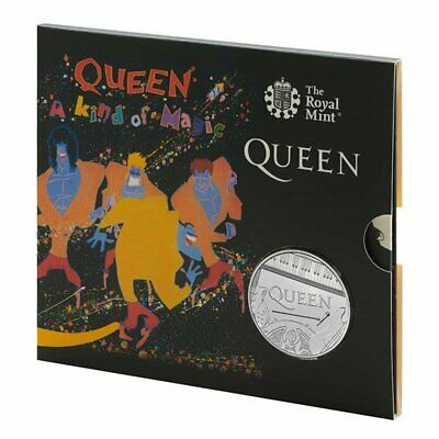 Queen £5 Royal Mint Coin Official BU Five Pound  A KIND OF MAGIC PRESENTATION PC