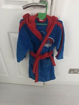 Boys Spiderman Dressing Gown Age 4-5