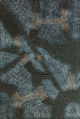Gracie Morton Pwerle, Authentic Aboriginal Art.  Size, 90cm x 60cm, Bush Plum