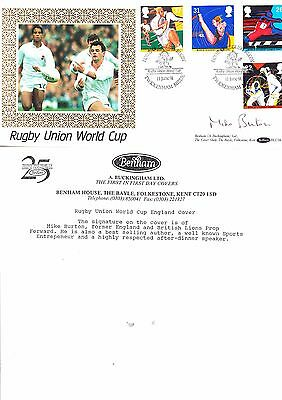 Mike Burton Hand Signed Rugby Union World Cup Official First Day Cover