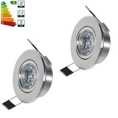 3/5/10x 3W RGB LED Recessed Ceiling Light Remote Control Spot Downlight Lamp UK