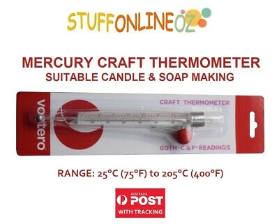 Glass Craft Thermometer Suitable Soap and Candle making.