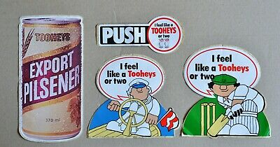 Lot Of 4 Vintage Tooheys Beer Stickers Decals