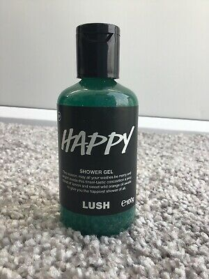 Lush HAPPY Shower Gel 100g Bottle NEW exp 10/2020 Christmas Glitter Discontinued