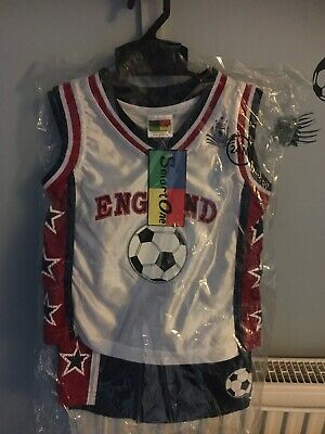 Boys Girls Football Basketball England New Clothes Tshirt Shorts Age 2 Years
