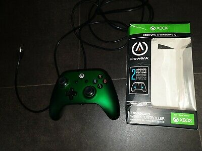 Emerald Green Wired Xbox One/PC controller PowerA / Extra programmable buttons
