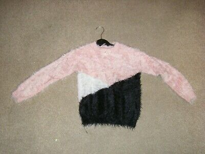 Girls Coral Multi Fluffy Jumper Age 6-7 Years from George