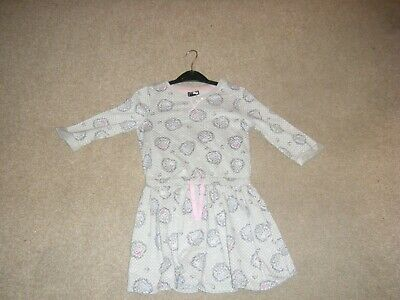 Girls Grey Hello Kitty Long Sleeved Dress Age 6-7 Years from George