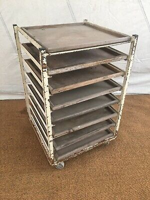 Pottery Potters Ware Board, Production Trolley, Vintage Shop Display Shelving