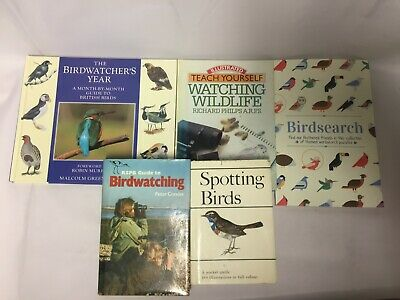 5x Birdwatching Books Spotting Birds Birdsearch Birdwatcher's Year RSPB Guide