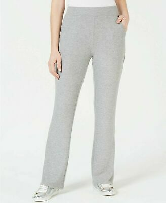 $135 Guess Womens Gray Pocketed Stretchy Comfy Soft Full Opal Flare Pants Size M