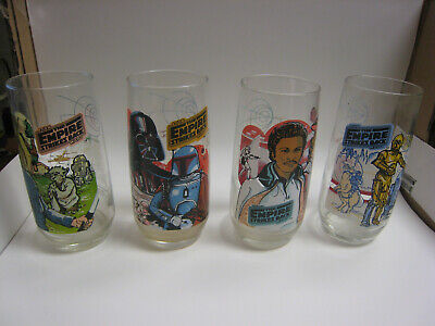 1977 Burger King Star Wars Glass 3 Pieces Of The Set Of 4 20th Century Fox
