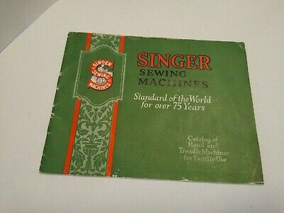 Antique SINGER Sewing Treadle Machine Brochure Catalog Book