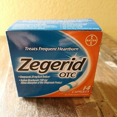 Zegerid OTC  14 Capsules omeprazole 20mg -One 14-day course of treatment exp8/20