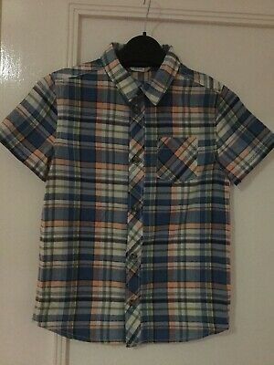 John Lewis Boys Smart Short Sleeved Checked Shirt, Age 9, with Pocket