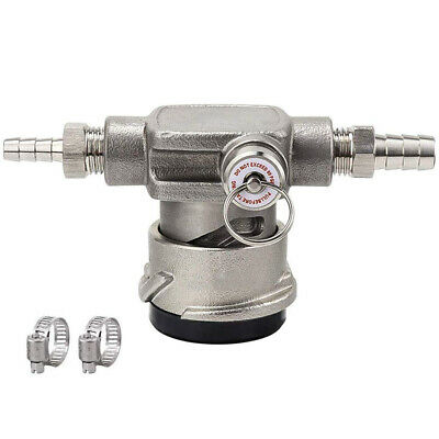Stainless Steel Low Profile Keg Coupler,D System Coupler with Safety Pressu W5G6