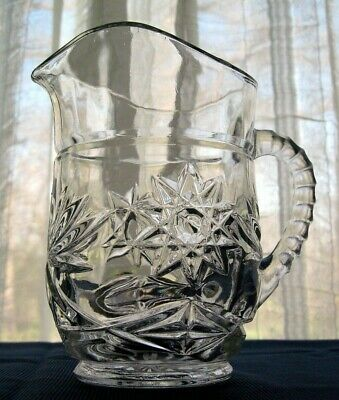 Anchor Hocking Glass Early American Prescut 16 ounce Pitcher
