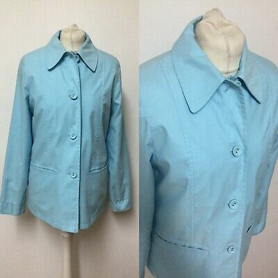Marks And Spencer Size 8 Pale Blue Mac Jacket Spring Wear To Work