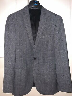 Blazer Bay Skinny Fit Grey Prince Of Wales Check T.M.Lewin Men/'s Suit Jacket