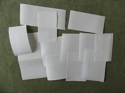white 14 count aida - job lot 12 pieces