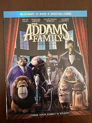 The Addams Family(Blu-Ray+Dvd+Digital Code)W/Slipcover New