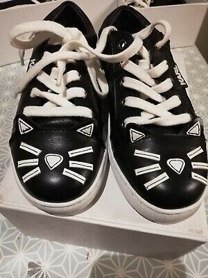 Karl Lagerfeld Kids Trainers Shoes Cat Whiskers Brand New size 36 UK 3