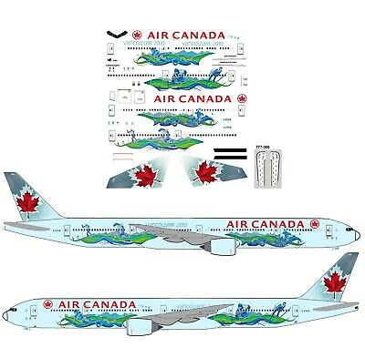 Air Canada Olympics  777-300ER Airliner Decal 1:144 scale For Revell/Zvezda  Kit