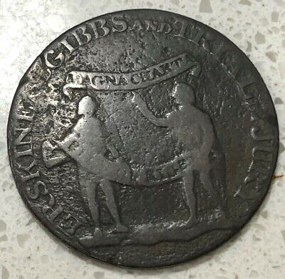 1794 Political Middlesex ERSKINE & GIBB & TRIAL BY JURY TOKEN