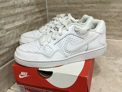 Nike Classic Son Of Force White Low Leather Upper Lace Up Trainers Size UK 4.5