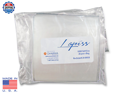 Lapiss Soft EVA Sheets .040  25 PACK - USE FOR TEETH WHITENING BLEACHING TRAYS