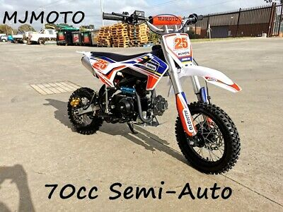 70cc Dirt Bike Trail Pit Bike Motor Electric Start Semi Auto Junior Kids Red