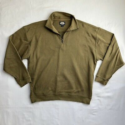 Tommy Bahama Mens Cotton Quarter Zip Green Sweater Size Large