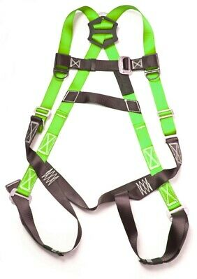 Fall Protection Harness Ring Full Body ANSI OSHA UL Roofers Construction Green