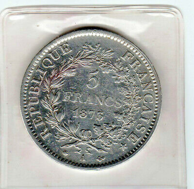 France 1873 A Large Silver 5 Franc - Reverse Hercules/3 Graces - Circulated Coin
