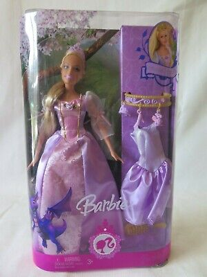 2007 Princess Rapunzel Barbie New In Box Charm Bracelet Mattel Doll Rare