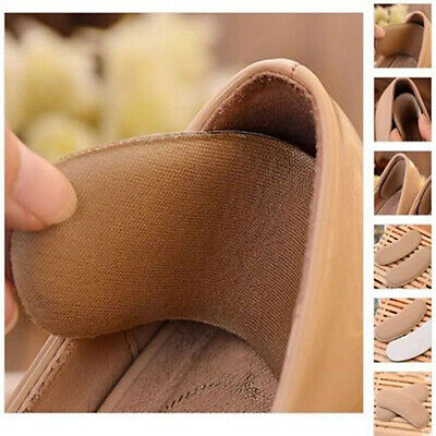 BL_ 5 Pairs Fabric Sticky Back Heel Grips Shoe Sponge Cushion Insole Pad Liners