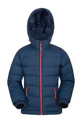 Mountain Warehouse Frost Youth Down Padded Jacket - Polyester Blue 5-6 years