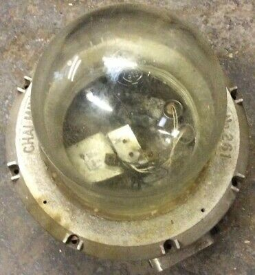 Vintage CHALMIT 261 Industrial Hazardous Light Steampunk Mancave Bar Loft