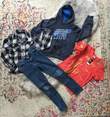 Boys Clothing Bundle Age 9-10 Jeans Hoody Shirt & T Shirt Next Kickers Primark