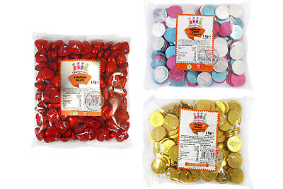 3 TYPE 1 kg KINGSWAY UNICORN COINS / VALENTINE HEARTS / PIRATE COINS CHOCOLATES