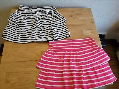 Pack Of Two Matalan Girls Skirts, Aged 7, BNWOT, Striped, Pink, Blue