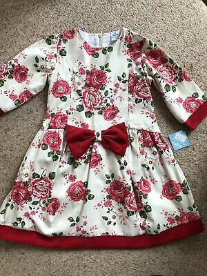 Designer Girls Dress By Sardon Age 6 Years Approx 63 Cm Long NEW With Tags