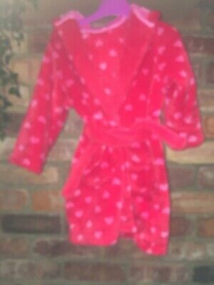 M & S Girls' Dressing Gown With Hood Age 2-3