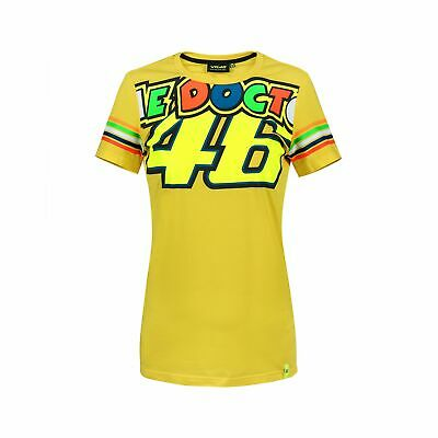 Valentino Rossi VR46 Moto GP The Doctor Stripes Women's T-shirt Official New