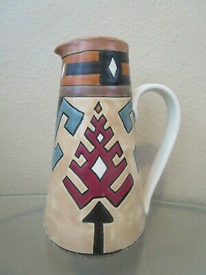 W.f. White Signed Southwestern Studio Pottery Pitcher Gorgeous