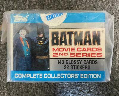 BATMAN 1989 TOPPS MOVIE CARDS COMPLETE COLLECTORS EDITION -2nd series SEALED BOX