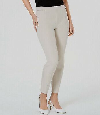$132 Alfani Womens Beige Pull-ON Snap-Front Casual Slim-Fit Skinny Pants Size 10