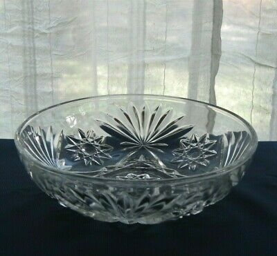 "Anchor Hocking Glass Clear Early American Prescut 7 1/4"" Bowl"